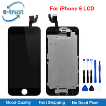 e-trust Full Assembly For iPhone 6 LCD Display Touch Screen Digitizer Replacement With Home Button+Front Camera Tools AAA+++Lcd