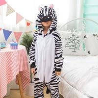 Meisje jongen Kinderen Unisex Herfst Winter Lente Dier Zebra Een Stuk Bodysuit Jumpsuits Pyjama Kids Anime Kostuum Jurk Gewaad