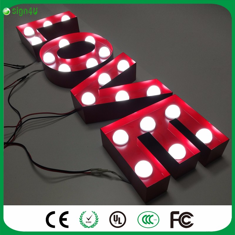 LOVE RED LED Marquee Sign LIGHT UP Vintage Adhesive letter love shape Plastic light valentine's Day Indoor Deration bus video led sign p5 flashing led route sign in china