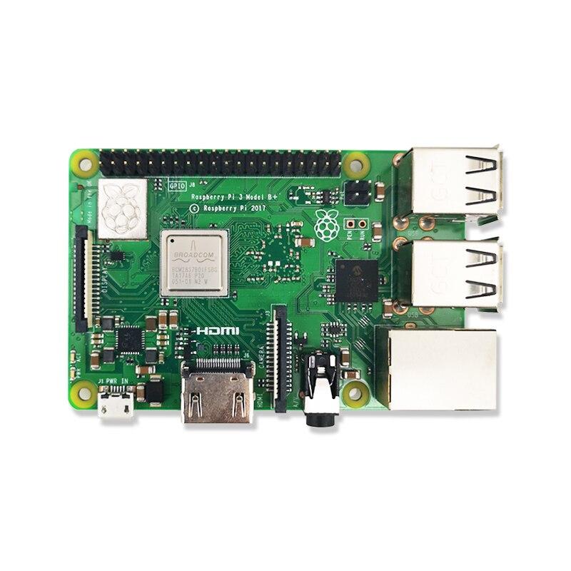 Nouveau 2018 Original Pi3 B + Raspberry Pi 3 modèle B + Plus carte 1 GB RAM LPDDR2 Quad-Core Wifi Bluetooth dissipateur de chaleur ventilateur de refroidissement - 4