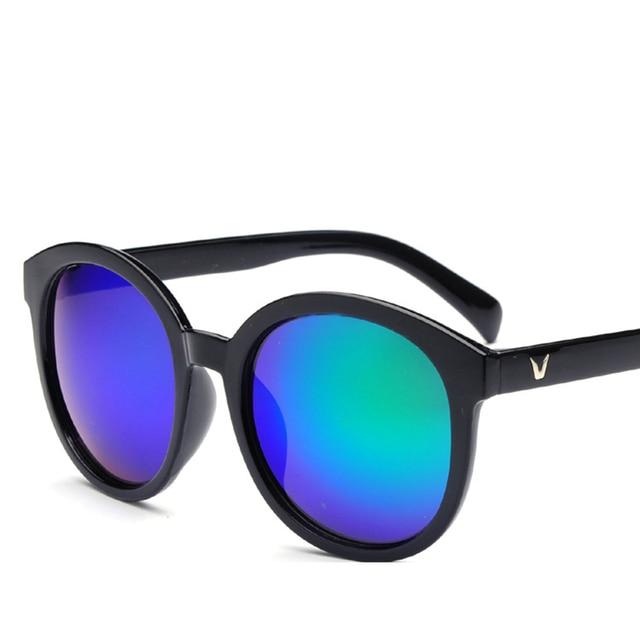 67bb2293be9c New Fashion V Logo Sunglasses Women Brand Designer G15 Black Vintage Lens  Outdoor Round Sun Glasses Men Sunglasses Eyewear