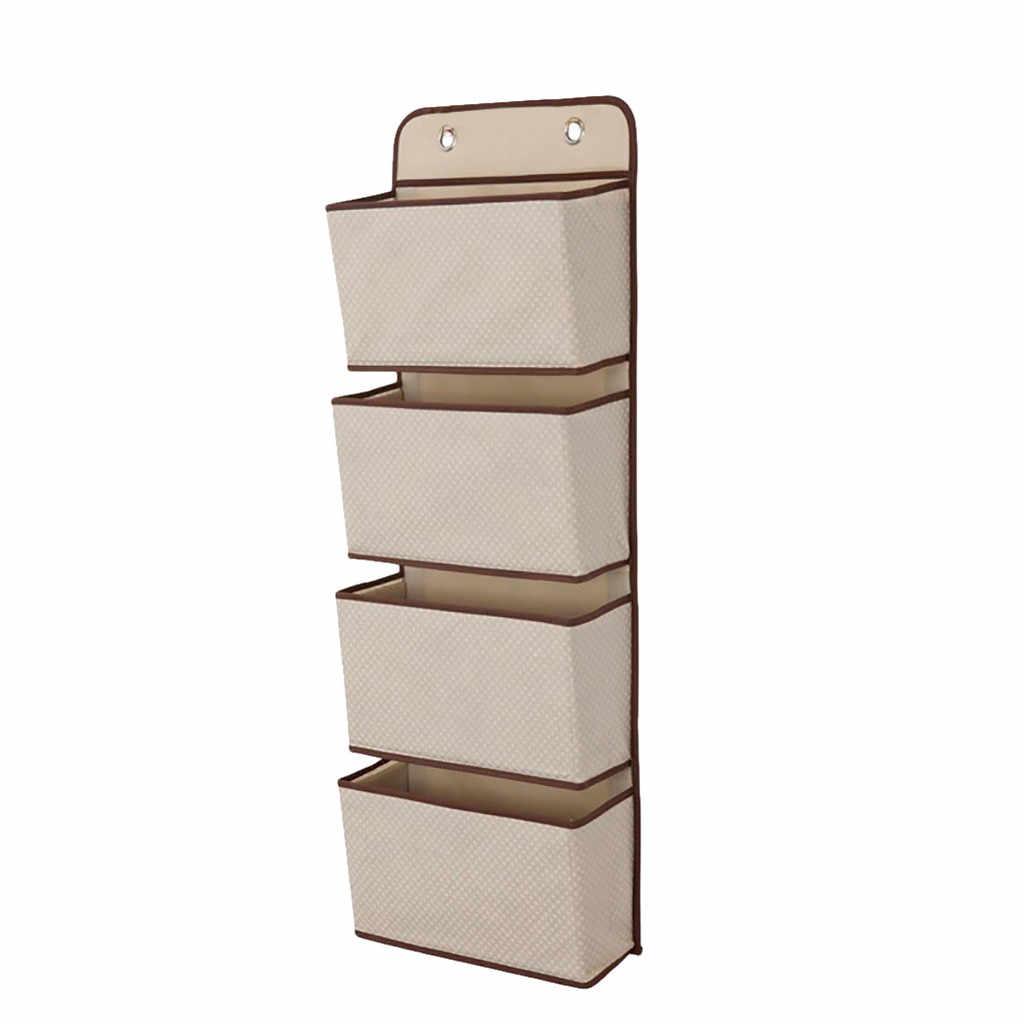 4 кармана, настенный органайзер для хранения, детская кровать, шкаф, органайзер, настенный смонтированный органайзер для игрушек