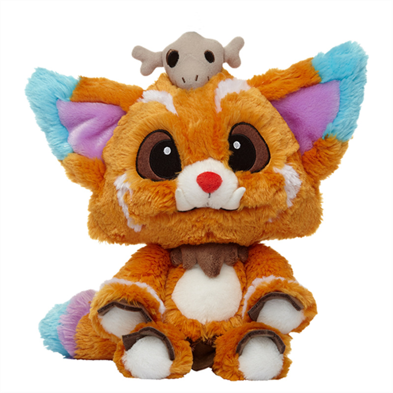 32CM-40cm League LOL Game Gnar Bear Stuffed Plush Soft Toys Doll For Kids Baby Gifts plush ocean creatures plush penguin doll cute stuffed sea simulative toys for soft baby kids birthdays gifts 32cm