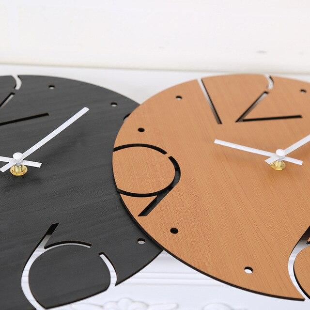 Horloge Murale Numérique Simple Design Moderne Horloges En Bois Pour