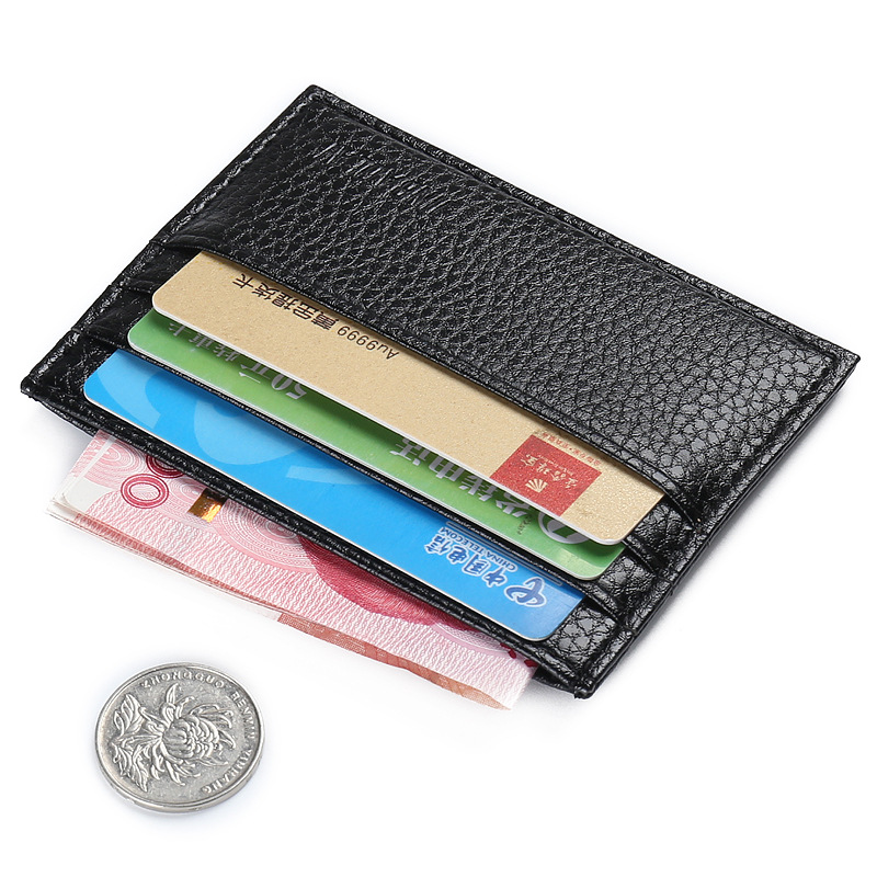 Fashion Vintage Slim Mini Wallet Artificial Leather Credit Card Holder Case ID Pocket Purses Business Travel Wallet KZ18005