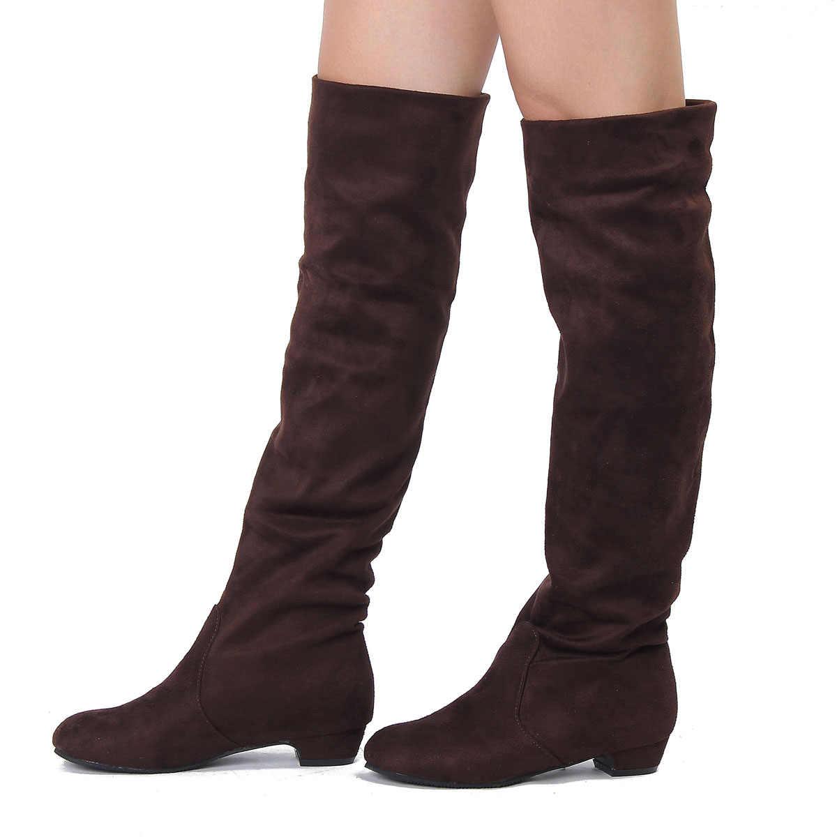e2db0a28a Пикантные сапоги розничная продажа новинка однотонные женские ботинки осень- зима-весна женские сапоги выше