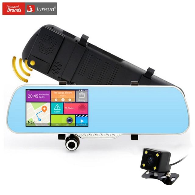 5-дюймовый Автомобильный видеорегистратор GPS-навигация зеркало заднего вида Android 4.4 Двойная камера Навител 9.5 карта Грузовик GPS корабля 16GB