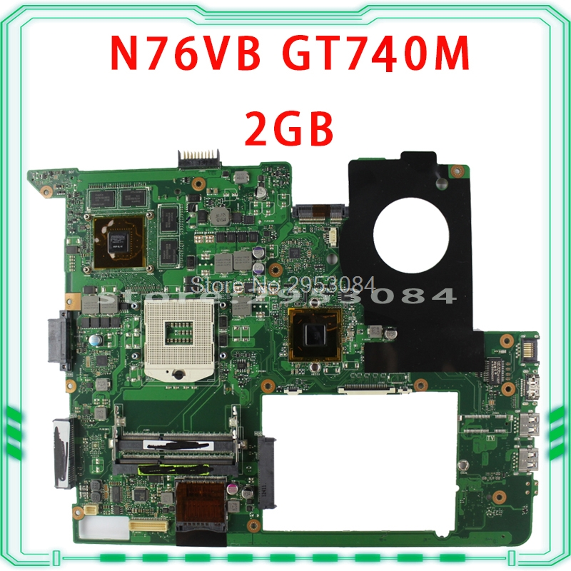 For ASUS N76VJ N76VB N76VZ N76VM N76V REV:2.0 Laptop Motherboard 2GB USB3.0 N14P-GE-OP-A2 GT740M fully tested & working perfect sbc8159 rev a2 full length 586 card industrial motherboard 100% tested perfect quality