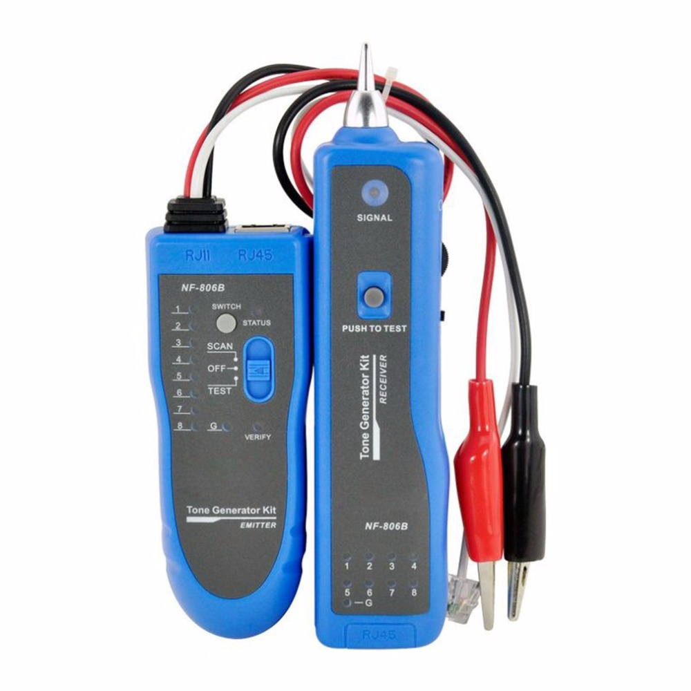 Professional Noyafa Network Wire Tracker Telephone Wire Finder Portable Handheld RJ45 RJ11 LAN Cable Testing Tool