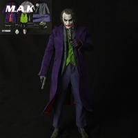 1:4 Scale Clown Costume Accessories Joker Figure Clothes Set & Body DIY Action Figure Action Figure