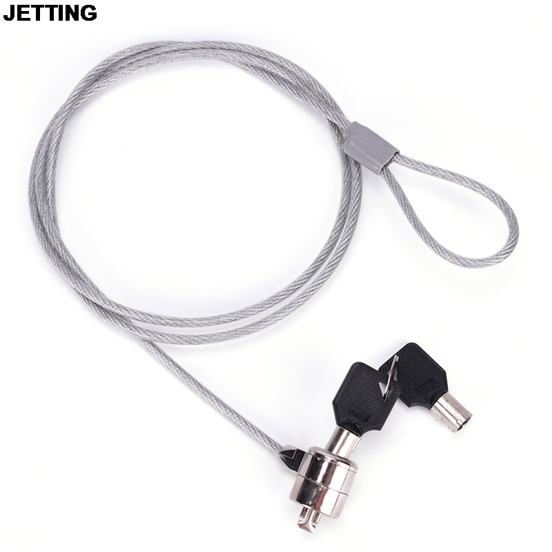 JETTING Anti-Theft Office Notebook <font><b>Laptop</b></font> PC Computer Desk Key Security <font><b>Lock</b></font> Chain <font><b>Cable</b></font> Drop Shipping image
