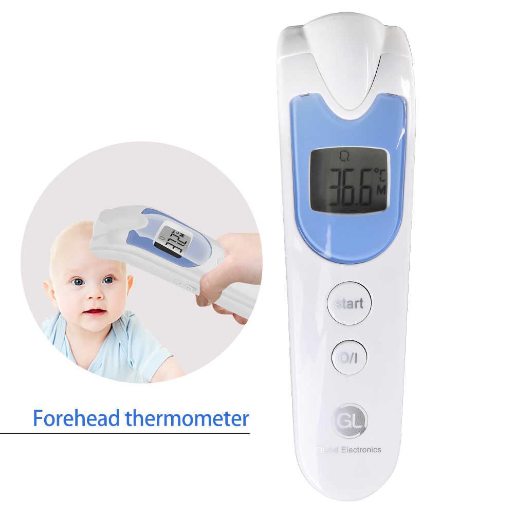 GL Housedold Untouch Termômetro Infravermelho Testa Termômetro Infravermelho Bebê Adulto Multifunções Backlight LCD Thermometro