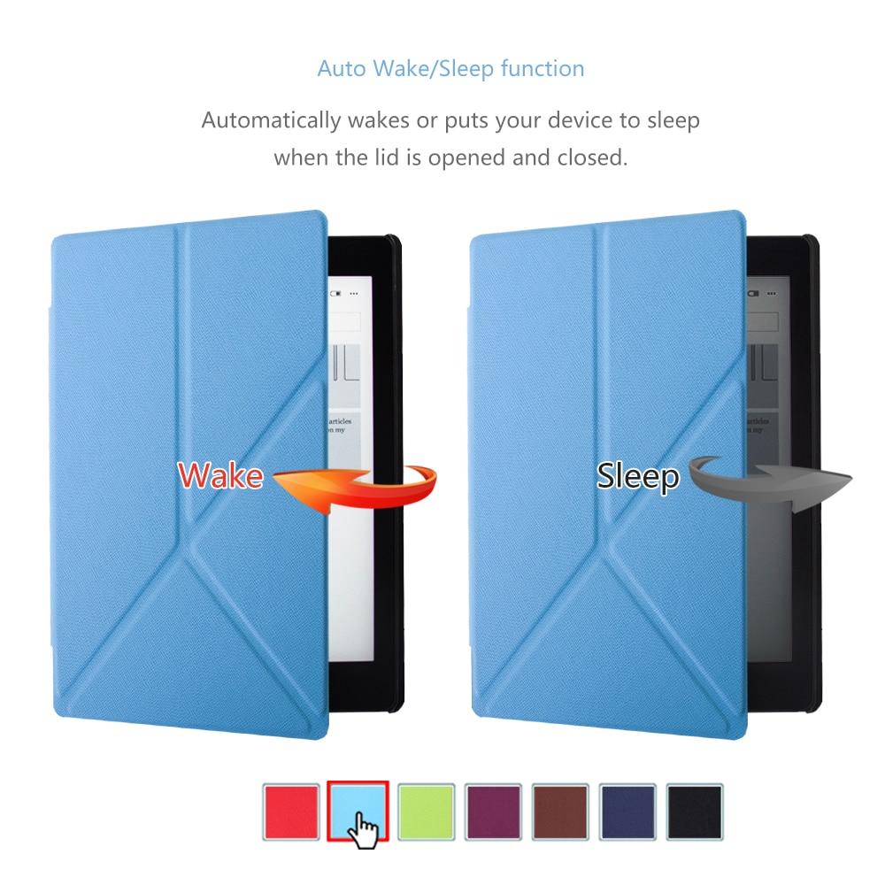 Standing cover case untuk Kobo Aura One 7.8 inch ebook reader - Aksesori tablet - Foto 4