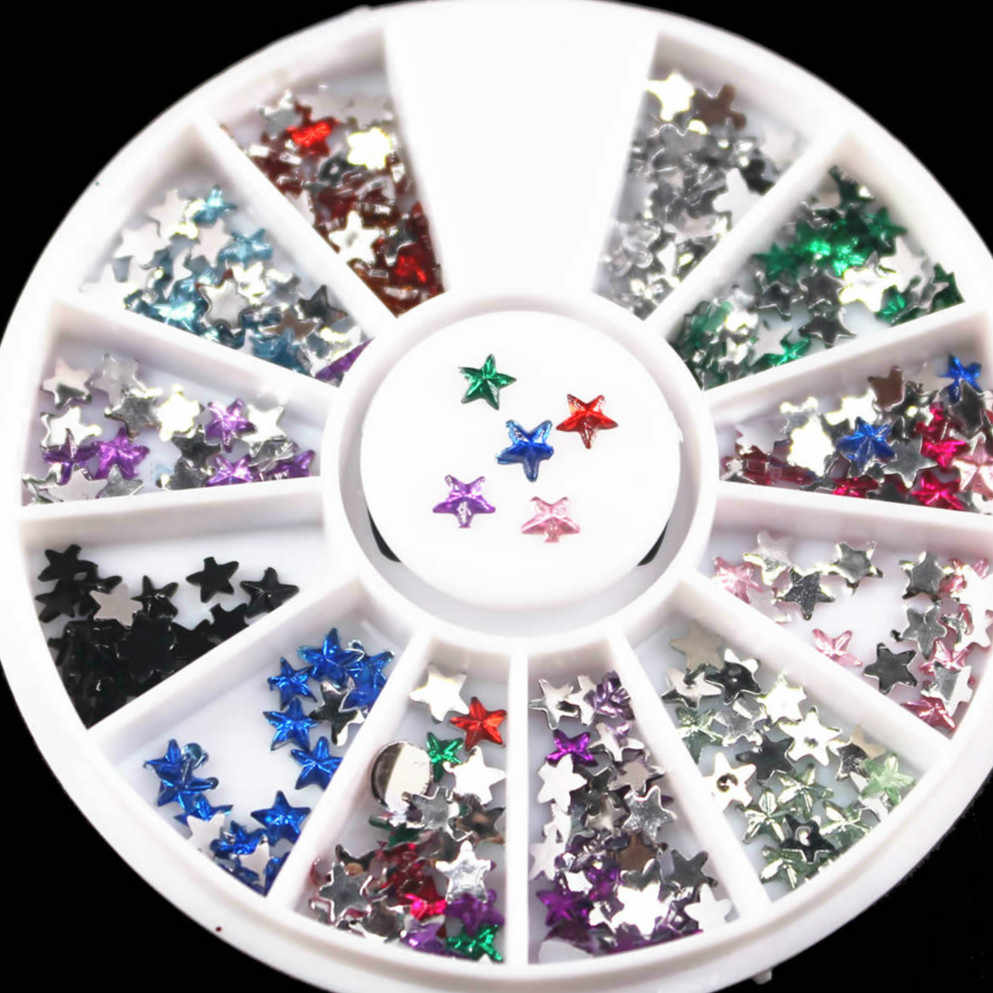 22 Kinds of Mixed Color Chameleon Stone Nail Rhinestone Small Irregular Manicure Nail Art Decoration Accessories Colorful Start