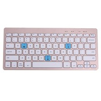 Metal Ultra Thin Wireless Bluetooth 3 0 Portable Keyboard With Phone Holder