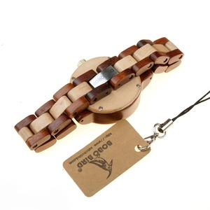 Image 5 - ボボ鳥女性クォーツ時計レロジオ feminino ファッションブランドレディー腕時計女性ギフトボックス木製ストラップ