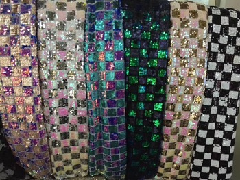 6 COLORS OPTION ! New and nice design! African Sequins lace fabric for wedding  Fabric with Sequin