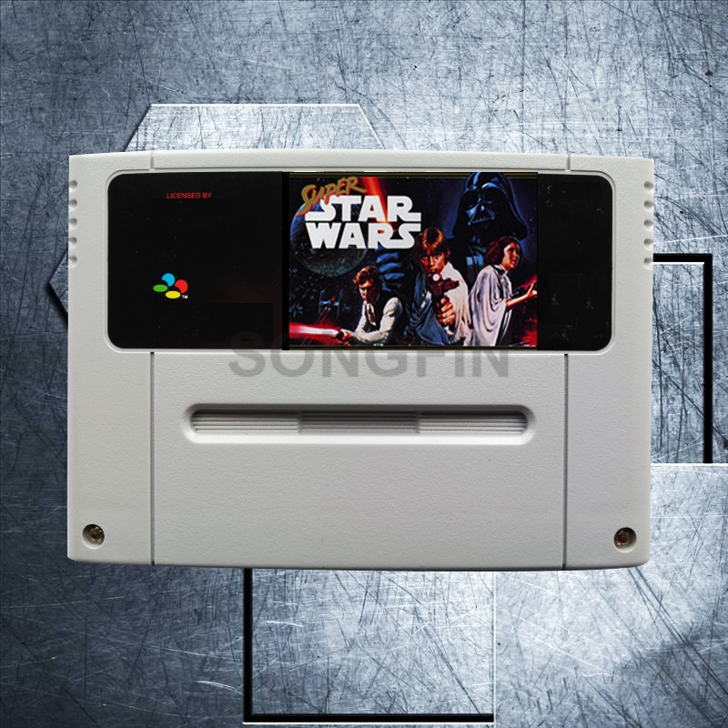 Super Star Wars 16 Bit Big Gray Game Cartridge for PAL/EUR Version Game Console