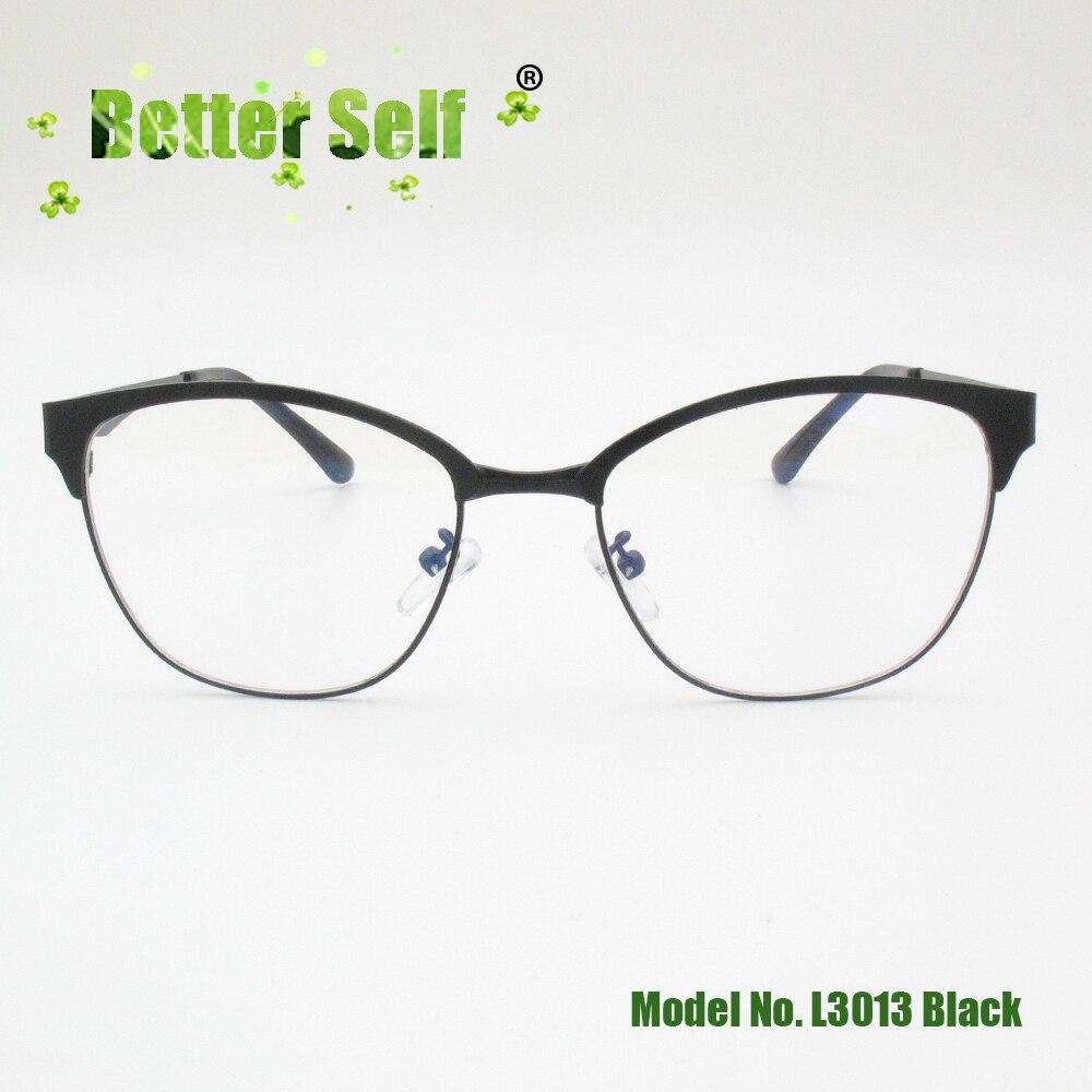 Better Self L3013 South Korean Style Eyeglasses Myopia Spectacles Frame Metal Cat Eye Men Women Optical Eyewear in Men 39 s Eyewear Frames from Apparel Accessories