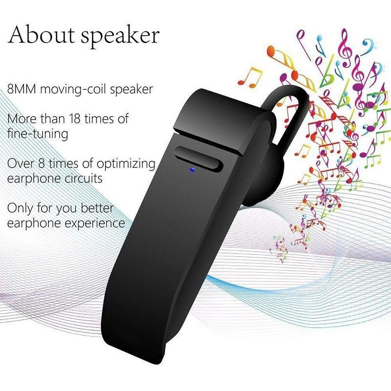 1 Pcs Wireless Earphone 16 Languages Translator Single Bluetooth Headset with Mic 2019