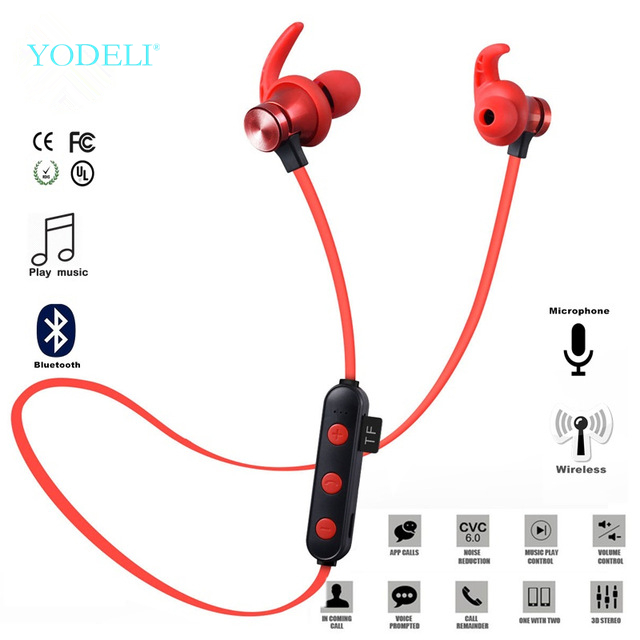 Yodlei XT-22 Bluetooth Wireless Headphones 5.0 Support TF Card Sport Headset Handsfree Stereo Earphone With Mic For Mobile Phone