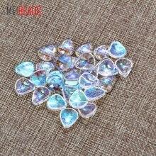 Meibeads 12.5*11mm na moda de vidro peixe escala forma espaçador de vidro pingentes para acessórios ajuste pulseira diy jóias fazendo ey5532