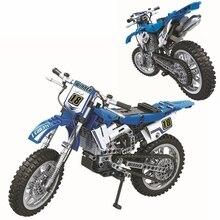 Technic Cross Bike Motorcycle Building Blocks Sets Bricks Classic Moto Model Kids Toys For Children Gift цена