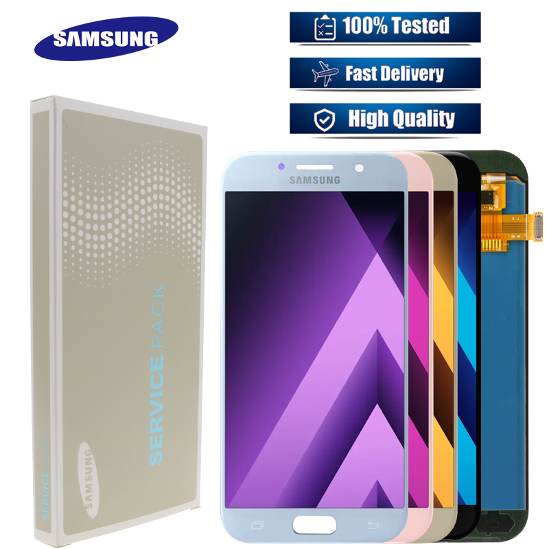 For SAMSUNG Galaxy A5 2017 A520 A520F SM A520F Display Touch Screen Digitizer A5 2017 A520