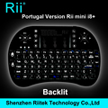 2016 Rii Hot preto 2.4 G RF Rii mini i8 Teclado sem fio touchpad mouse Teclado retroiluminado de jogo para HTPC Tablet PC Teclado
