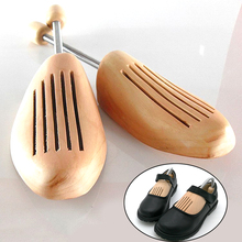 Hot Wooden Shoe Tree High-grade Spring Adjustable High Quality Support Shaped Fixed Shoes Without Distortion Wood Color