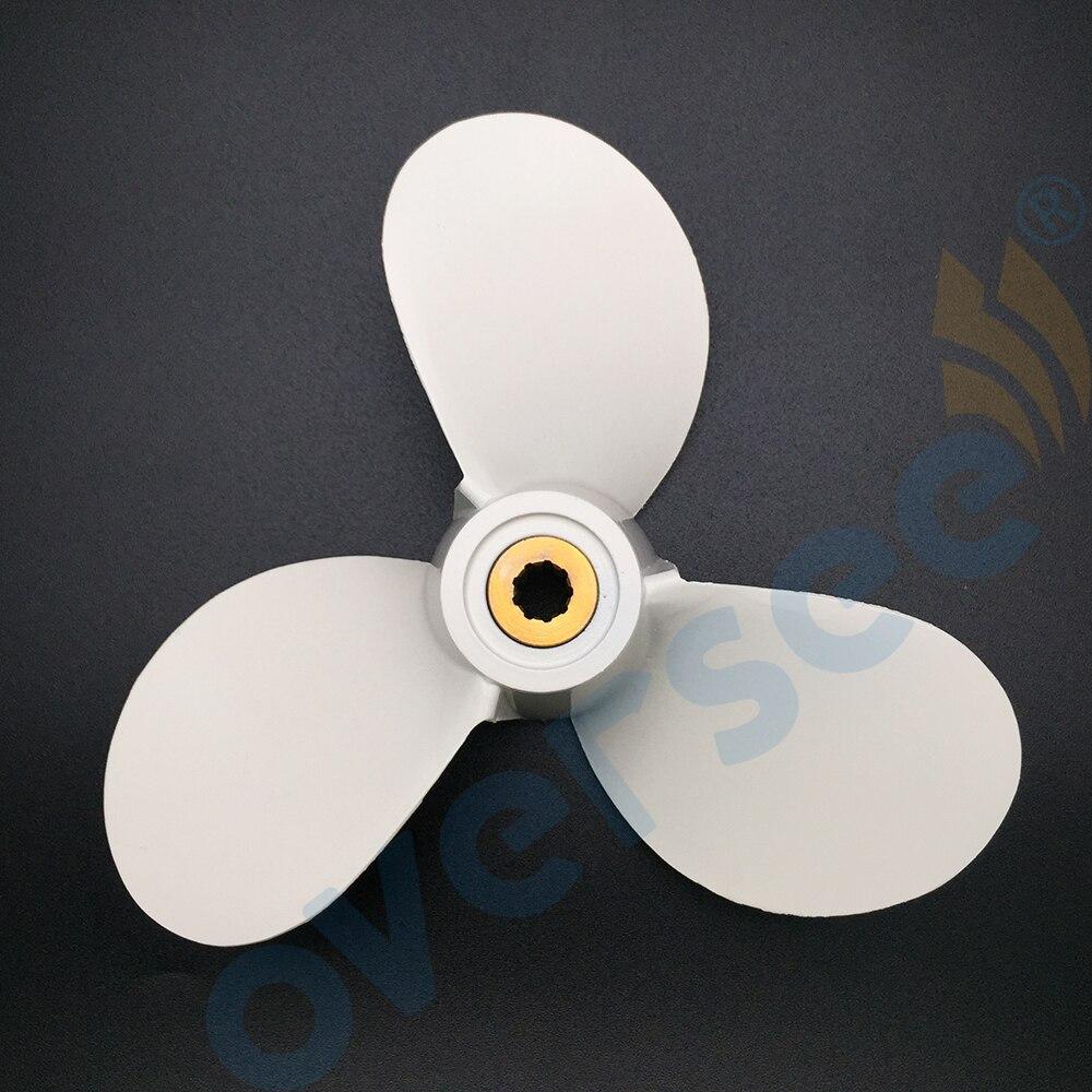 Boat engine propeller 7 1 2x7 ba for yamaha 4hp 5hp outboard motor aluminum alloy 7
