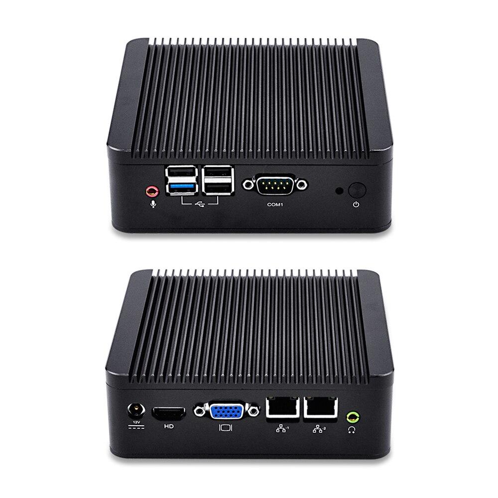 Nic dual quad core mini pc q190s-s02 j1900 procesador caja de metal soporte para