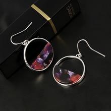 Bohemia Dangle Drop Earrings Women Accessories geometric circular Handmade Acrylic Long Earrings Ethnic Women Jewelry