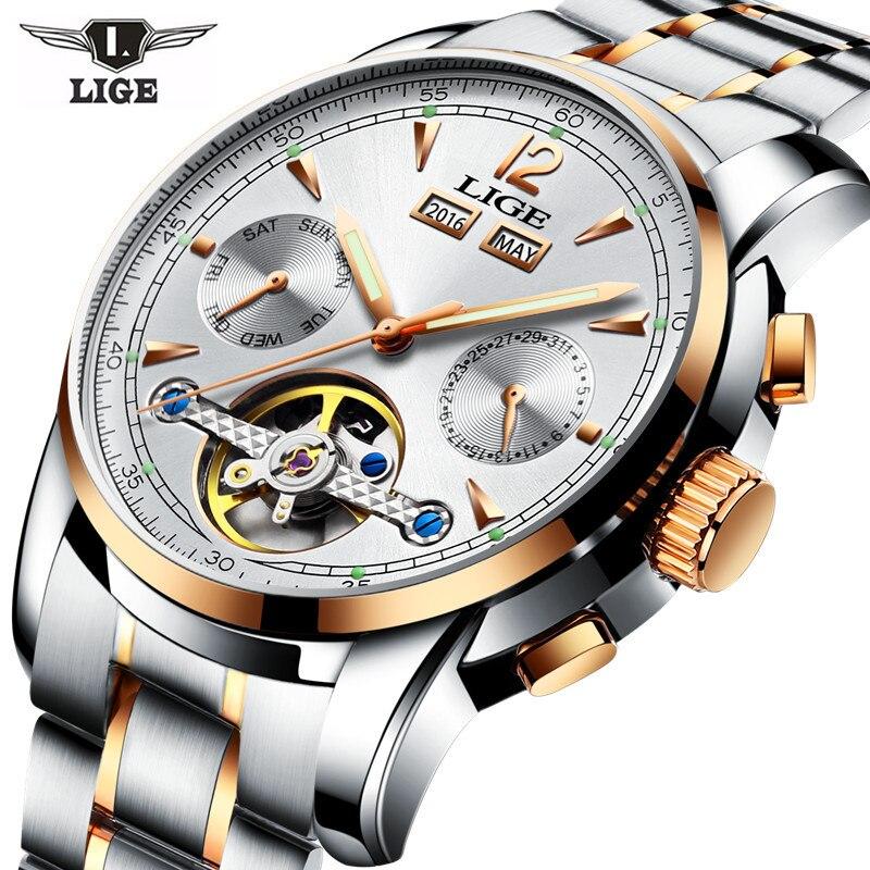 Relojes LIGE Male Automatic font b mechanical b font Sport Watch font b Men b font