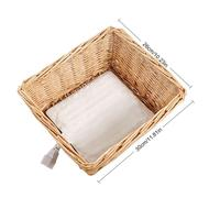 Wicker Braided Bread Heated Insulation Basket For Bread Heating And Preservation Snack Storage Baskets