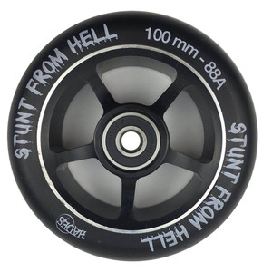 Image 2 - 2 ピース/ロット 88A 100 ミリメートルスクーターホイールベアリング合金鋼ホイールハブ高弾性と精度とスピードスケートホイールa116