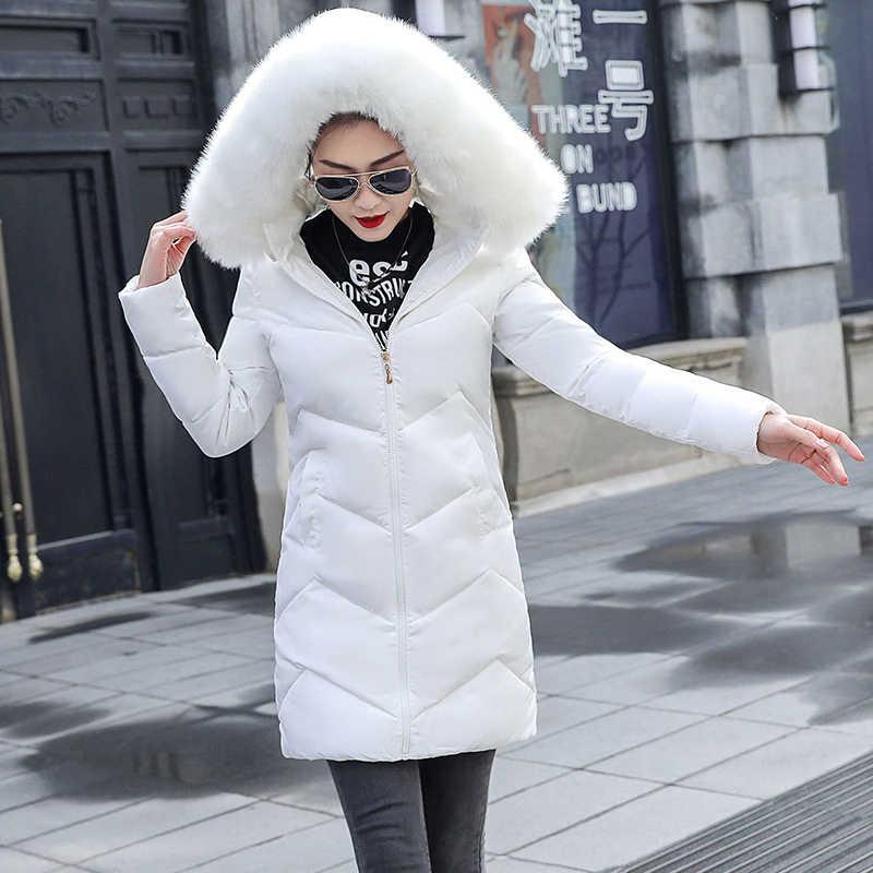 Mode Winter Vrouwelijke Jas 2019 Nieuwe Collectie Parka Slanke Lange Jas Voor vrouwen Winter Parka Warm Met Capuchon winter Jas