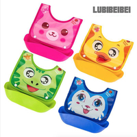 Plastic Baby Bibs Increase Detachable Stereo Waterproof Baby Saliva Bibs Children Eat Pocket Imitation Silicone Baby