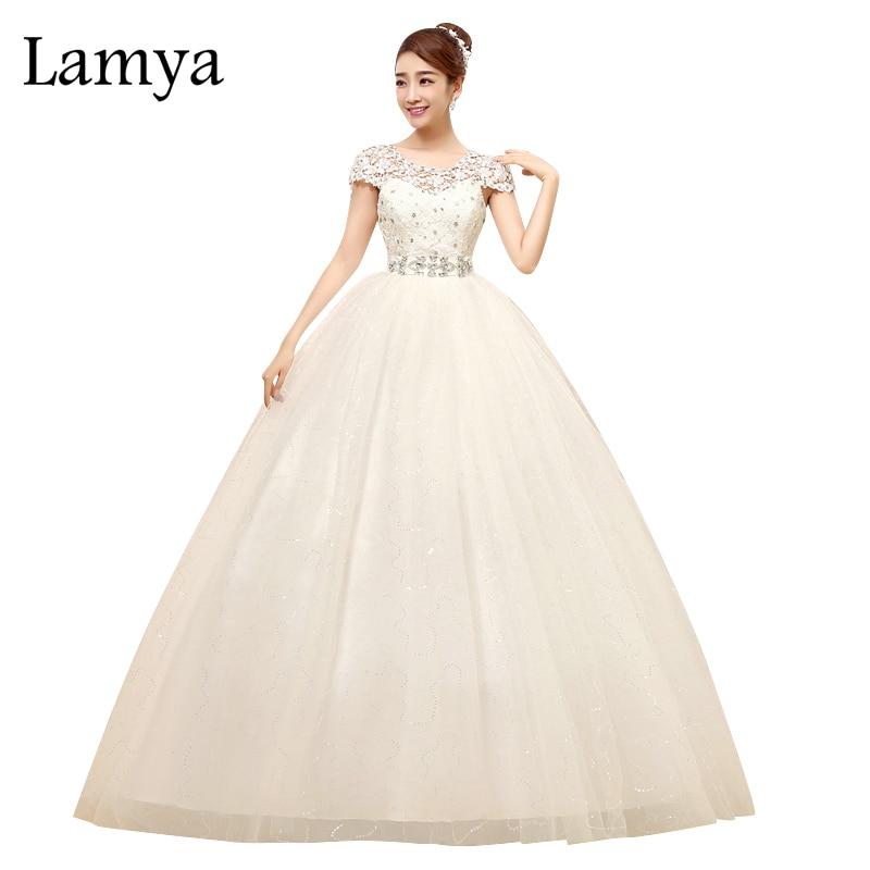 """""""Lamya 2017"""" didmeninė vestuvinė suknelė nėrinių kraštas pritaikytas grindų ilgiui saldainis tyllis vestuvių kamuolys suknelė Vestido De Noiva"""