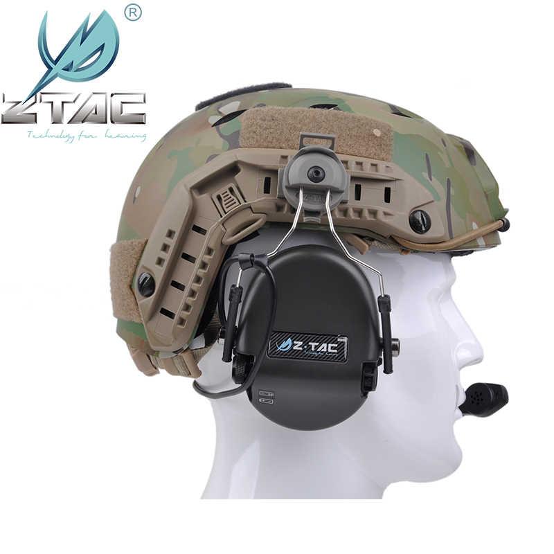 Z-Tac Sordin טקטי אוזניות הפחתת רעש אוזניות מהיר קסדת קסדת רכבת מתאם Softair Sordin ציד אוזניות Z034