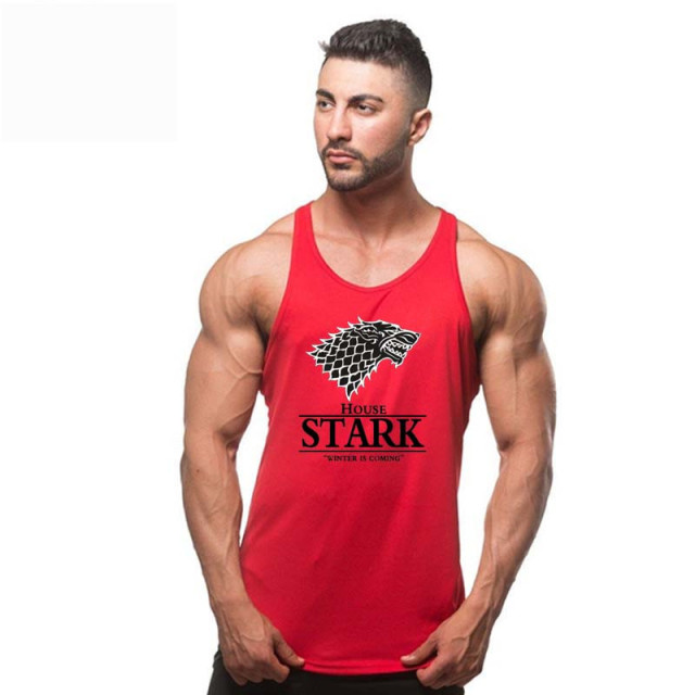 New brand Stark Game of Thrones Men T-shirt vest animal tank top tshirt sleeveless men workout tops for men gyms tank tops