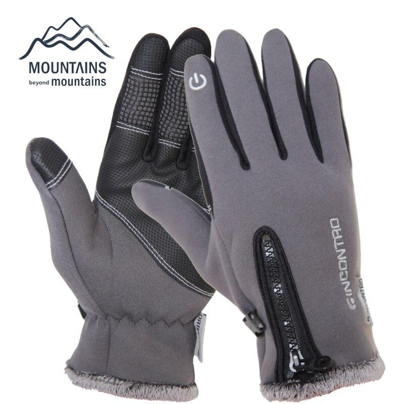 Prix pour Hommes D'hiver En Plein Air Sport Windstopper gants de Ski Imperméables Gants Écran Tactile Gants D'équitation Chauds Surf Des Neiges Gants Moto