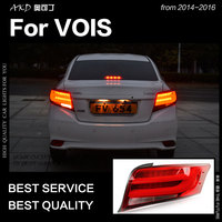 AKD Car Styling for Toyota Vois Tail Lights 2014 2016 Yaris Sedan LED Tail Lamp LED DRL Brake Signal Reverse auto Accessories