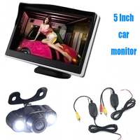 3 In 1 Auto Parking Kit Night Vision Wireless Car Reavr View Camera Reverse Reversing Camera With TFT LCD 5 Car Monitor 600*480