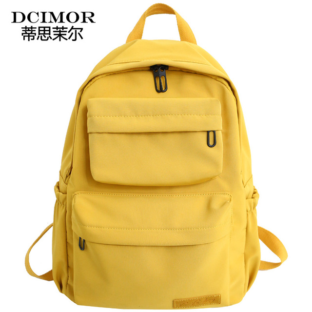 DCIMOR New Waterproof Nylon Backpack for Women Multi Pocket Travel Backpacks Female School Bag for Teenage Girls Book Mochilas 6
