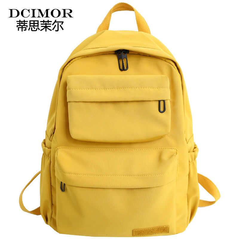 DCIMOR Новый Водонепроницаемый нейлоновый рюкзак для Для женщин Дорожная много карманов рюкзаки женская школьная сумка для девочек-подростков книга Mochilas