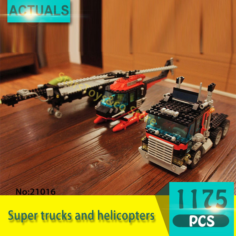 Lepin 21016 1175Pcs Technic Series Super trucks and helicopters Model Building Blocks Set  Bricks Toys For Children  Gift 5590 lepin 21016 1175pcs technic series the turbine super truck set children building blocks bricks educational toys compatible 5590