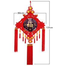 Chinese Knots Craft Silk Tassels Gold and Red Characteristics Gift Soft Drawing Room Decorative Hand Knitting