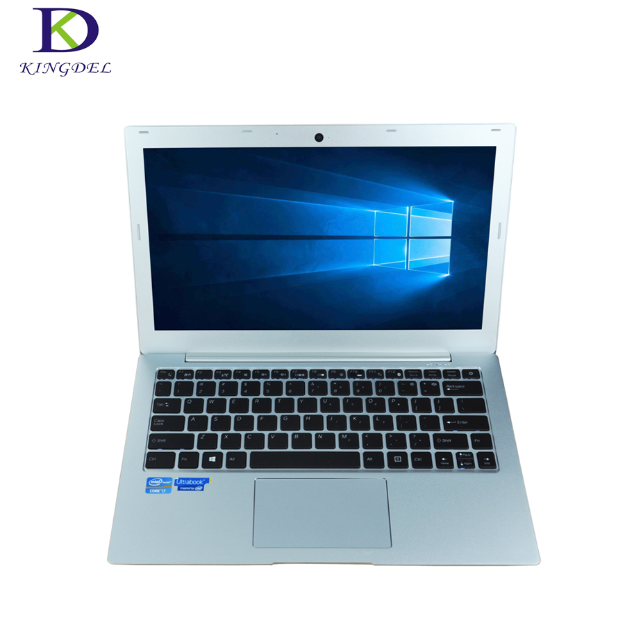 Hot Promotion 13.3″ laptop computer i7 7500U dual core win 10 netbook webcam HDMI SD Type-c Backlit Keyboard 8G RAM+1TB SSD