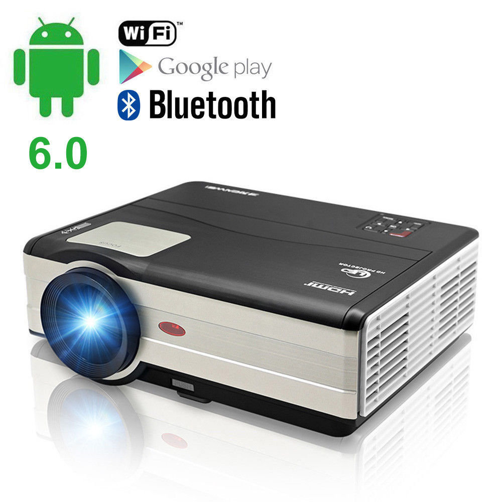 лучшая цена CAIWEI LCD LED Projector Digital Android WiFi Proyector Home Theater Beamer mirror screen Movie Audio Video TV Support HD 1080P